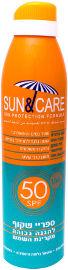 Sun & Care ספריי שקוף מבוגרים SPF50 UVA B