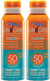 Sun & Care זוג ספריי שקוף UVA Bמבוגרים SPF50