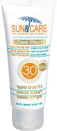 Sun & Care ג'ל הגנה שקוף לפנים SPF30 UVA B