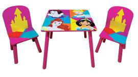 Disney שולחן עץ נסיכות דיסני + 2 כיסאות