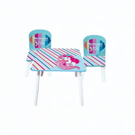 Disney שולחן עץ אריאל בת הים הקטנה + 2 כיסאות