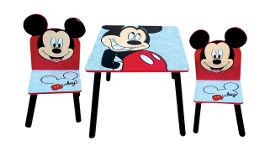 Disney שולחן עץ מיקי מאוס + 2 כיסאות