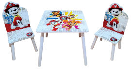 Disney שולחן עץ מפרץ ההרפתקאות + 2 כיסאות