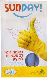 סאנדיי כפפות גומי רב פעמיות לניקיון L-XL