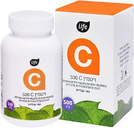 לייף ויטמין C 500 קומפלקס