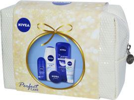 NIVEA תיק טיפוח לאשה המכיל: קרם רחצה + אין שאוור + קרם רב שימושי+ קרם לחות סופט + דאודורנט רול און