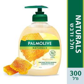 פלמוליב סבון ידיים מועשר בתמציות חלב ודבש