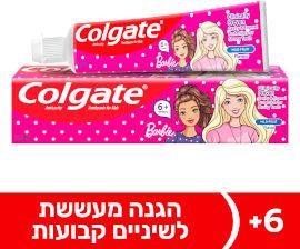 קולגייט ילדים משחת שיניים ברבי לגילאי 6+