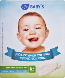 Life BABYS חטיף אורז אפוי בטעם טבעי לתינוקות 6+ חודשים