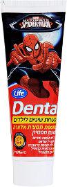 Life DENTAL משחת שיניים לילדים בתוספת תמצית אלוורה בטעם מסטיק לגילאי 6 ומעלה - ספיידרמן