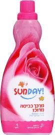 סאנדיי מרכך כביסה מרוכז ומבושם פרחים ורודים
