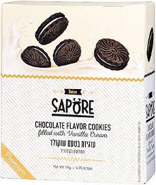סאפורה עוגיות בטעם שוקולד ממולאות בקרם וניל