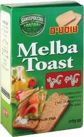 MELBA TOAST טוסטים פת קלויה טעם טבעי
