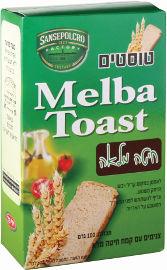 MELBA TOAST טוסטים צנימים עם קמח חיטה מלא