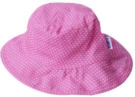 LIFE BABYS כובע צד אחד-פוקסיה נקודות, צד שני-ורוד בהיר-בנות