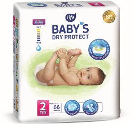 "Life BABYS חיתולים מידה 2 מיני 3-6 ק""ג DRY PROTECT"