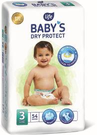 "Life BABYS חיתולים 3 מידי 4-9 ק""ג DRY PROTECT"