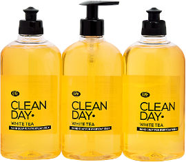 Life סבון נוזלי לידיים קלין דיי וויט טי-צהוב