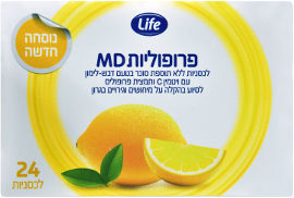 Life פרופוליות MD בטעם דבש-לימון