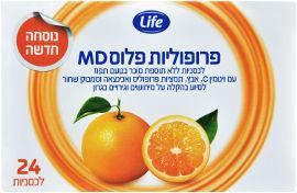 Life פרופוליות פלוס MD בטעם תפוז