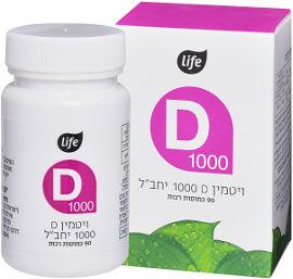 "Life ויטמין D1000 יב""ל"