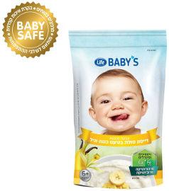 לייף בייביז דייסה לתינוק בטעם וניל בננה 6+ חודשים