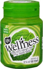 Life Wellness מסטיק ללא סוכר בתוספת סידן בטעם מנטה עדין