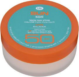 Life SUN קידס תחליב הגנה צבעוני SPF50 כתום