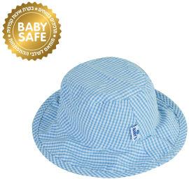 Life BABYS כובע קיץ משבצות תכלת 6-12