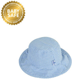 Life כובע צד אחד-כוכבים על דמוי גי'נס, צד שני-תכלת-בנים