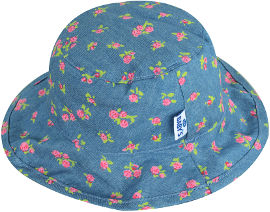 Life BABYS כובע קיץ ג'ינס פרחוני 6-12