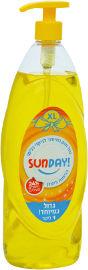 סאנדיי נוזל לניקוי כלים 24% חומרים פעילים בניחוח לימון