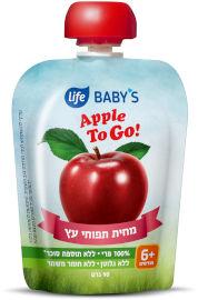 Life BABYS מחית תפוח עץ TO GO
