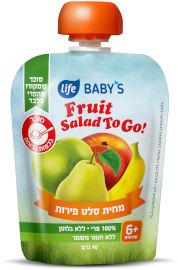 לייף לייף בייביז מחית לתינוק סלט פירות חודשים +6 TO GO