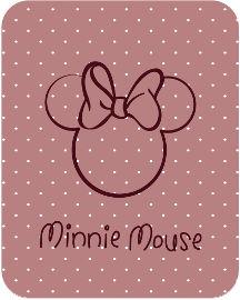 Disney שטיח פלנל לחדר ילדים דגם מיני מאוס
