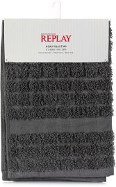REPLAY סט 2 מגבות מטבח REPLAY אפור כהה ואפור בהיר