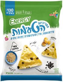 אנרג'י הפריכיות הטעימות - פריכיות חומוס / אורז / עדשים שחורות / מלח ים