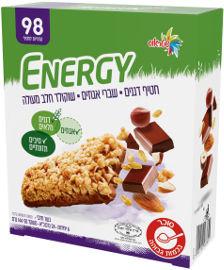 אנרג'י Better חטיף דגנים עם שברי אגוזים ושוקולד חלב מעולה 93 קלוריות לחטיף
