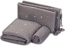 NINO סט מצעים למיטת תינוק - גלקסי אפור