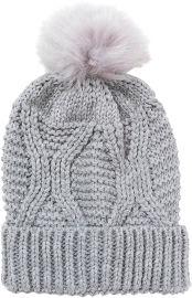 לייף כובע אפור עם פונפון