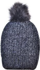 לייף כובע שניל שחור עם פונפון