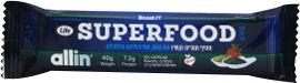 Life ALLIN SUPERFOOD חטיף תמרים וקשיו עם תות, ספירולינה וכלורלה
