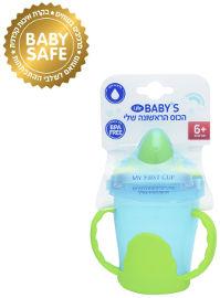 Life BABYS הכוס הראשונה שלי לגיל 6+ כחול ירוק