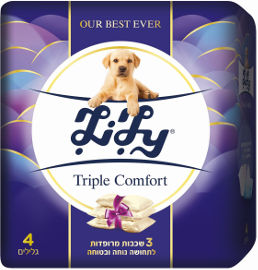 לילי TRIPLE COMFOTRT נייר טואלט 3 שכבות מרופדות