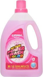 סאנדיי ג'ל כביסה מתאים לכביסה לבנה וצבעונית