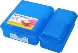 סאנדיי LUNCH & MUNCH קופסת אוכל - כחולה
