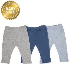 Life BABYS מכנסיים כחול אפור 3-6 קיץ