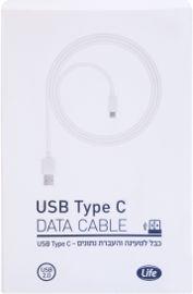 לייף כבל לטעינה והעברת נתונים USB TYPE C