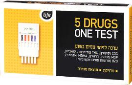 Life לייף ערכה לזיהוי סמים בשתן