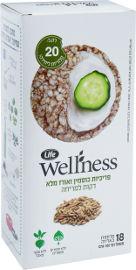 Life Wellness פריכיות כוסמין ואורז מלא דקות למריחה